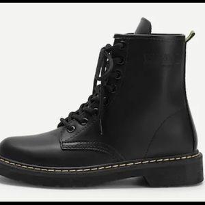 849315f7c0 SHEIN Shoes | Black Platform Industrial Boots | Poshmark